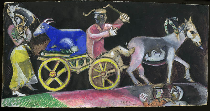 Marc Chagall - Le Marchand de Bestiaux (The Cattle Dealer), 1912