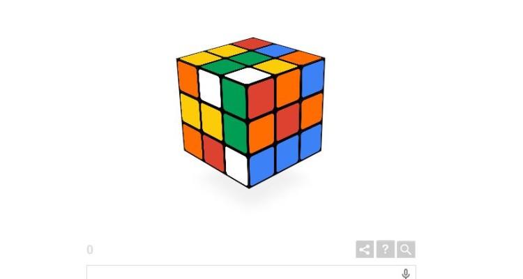 Il doodle di Rubik, Google omaggia il cubo