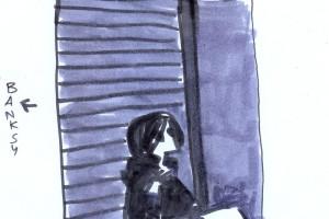 gente che disegna in piazza gerolomini