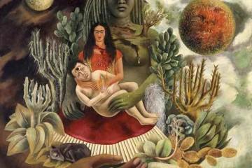 Frida Kahlo - L'amoroso abbraccio dell'universo, la terra (Messico), io, Diego e il signor Xolotl