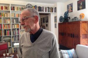 Mario Franco nelle sale dell'archivio